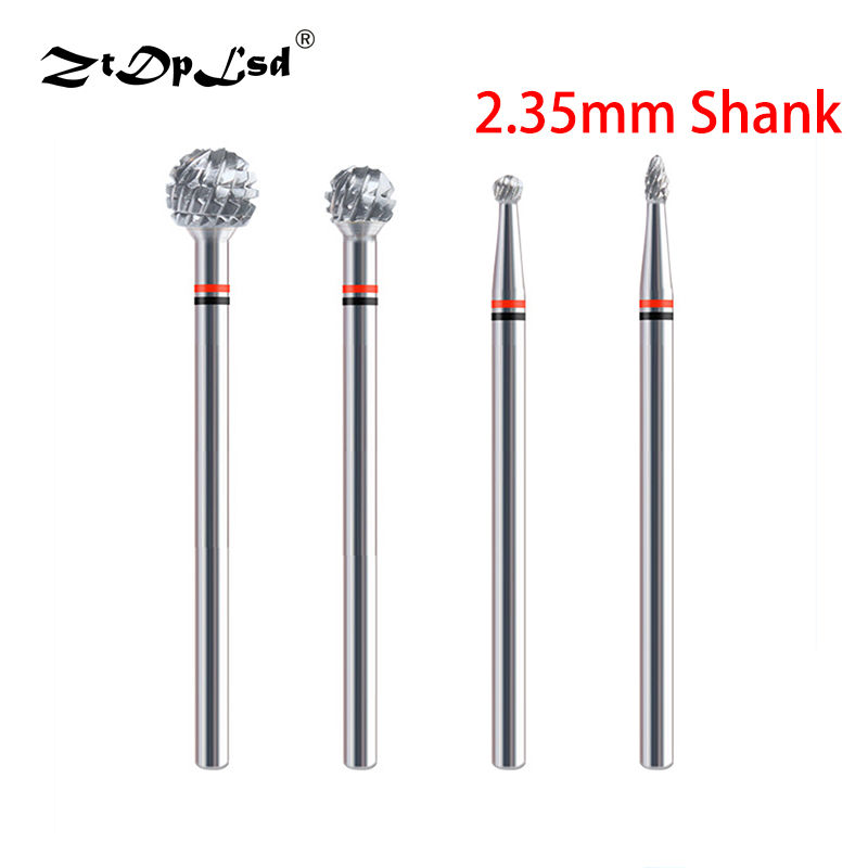 1PCS 2.35MM Shank Tungsten Steel Grinding Head Nail Drill Bits Carving Burrs Electric Manicure Machine Accessories Tools Bit