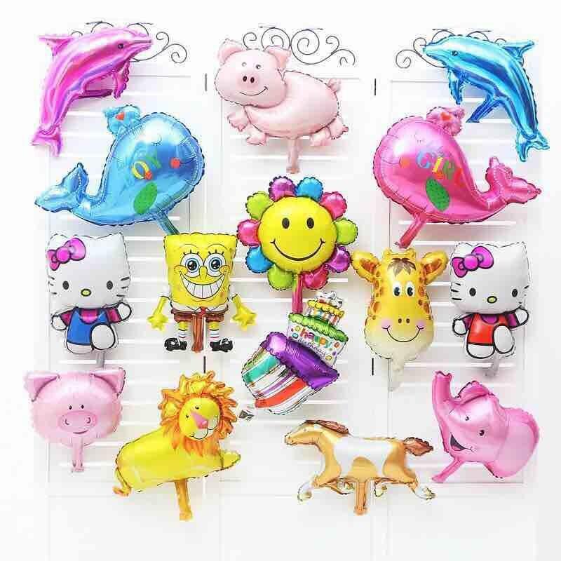 Lucky 1000pcs lot 20 50 cm Cartoon Mini Balloon Baby Shower Ballon Animal Foil Air Balloons
