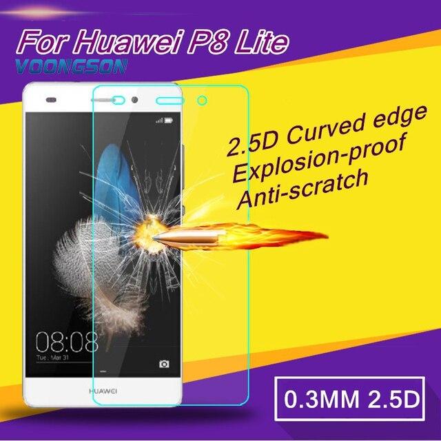Voongson hartowanego szkła dla huawei p9 lite g9 mate 9 p8 lite nova honor 8 4c 5c 6x z ekranu anti shatter protector film g p 9