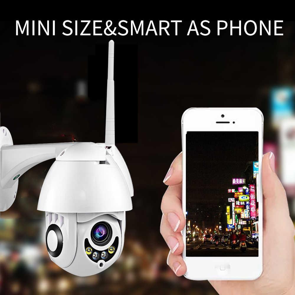 Kamera Wifi Kolam HD 1080P 2MP Ip Kamera Wireless Speed Dome Kamera Keamanan CCTV IP66 Audio Dua Arah pengawasan Kartu SD