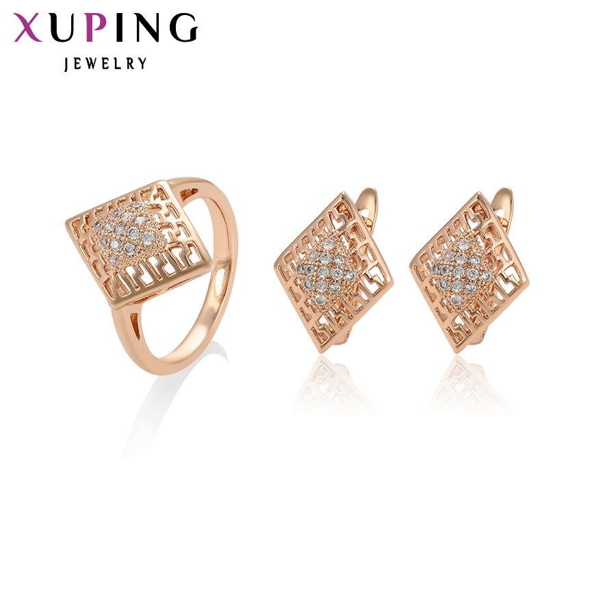 11.11 Xuping Fashion Jewelry Sets Fantastic Charm Women Sets Rose Gold Color Plated Mother's Day Gifts S93-64960