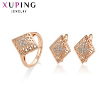 Xuping Fashion Jewelry Sets Fantastic Charm Women Sets Rose Gold Color Plated Mother's Day Gifts S93-64960(China)