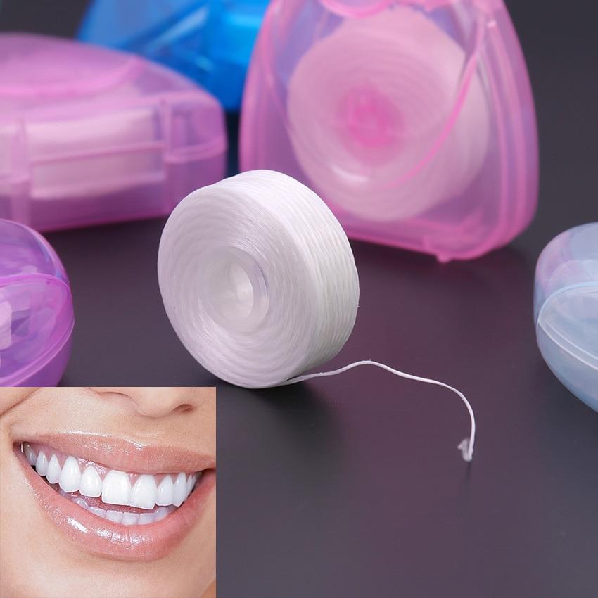 50 м портативная зубная нить Уход за полостью рта очиститель зубов с коробкой практичные гигиенические принадлежности для здоровья уход за полостью рта