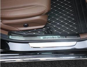 Image 2 - Per Mercedes Benz Nuovo E Classe Soglia E200L E300L Decorazione Adesivo Pedale Benvenuto Pedale Decorazione Interna di Modifica