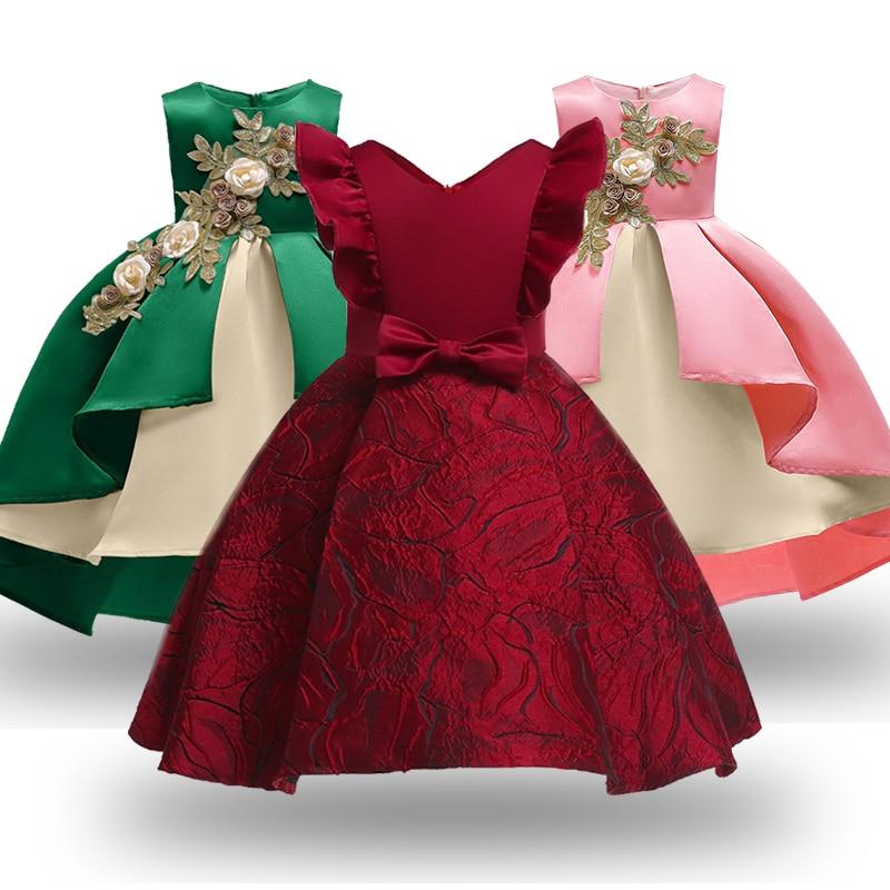 Summer Christmas   Flower     Girls     Dress     Girl   Clothing Sleeveless Princess   Dresses     Girl   Costume Kids Clothes
