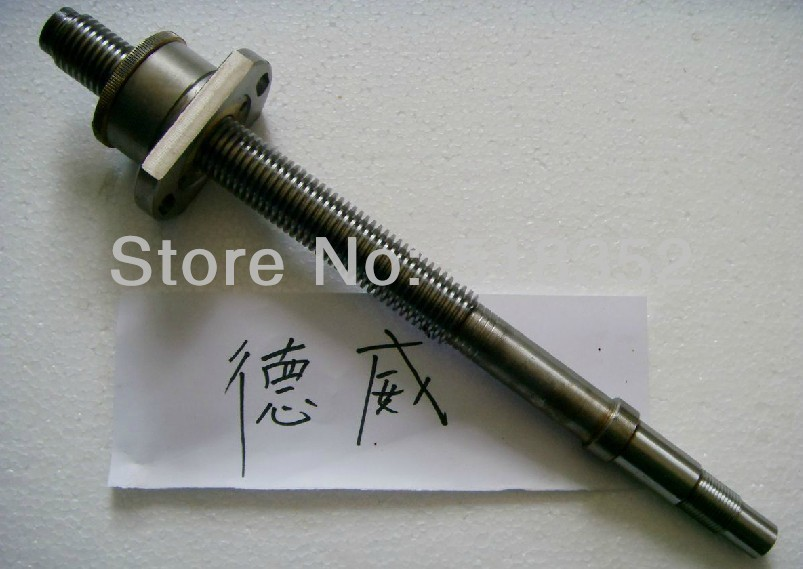 L390mm Screw Rod with Feed Screw Nut  M24x 3mm Tooth Pitch Used for Dewei and Other Wire EDM Machines, EDM Spare PartsL390mm Screw Rod with Feed Screw Nut  M24x 3mm Tooth Pitch Used for Dewei and Other Wire EDM Machines, EDM Spare Parts