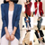 Precio más bajo! 8 colores nuevo 2014 otoño invierno moda mujeres largo manga del suéter de punto prendas de abrigo chal Cardigans géneros de punto