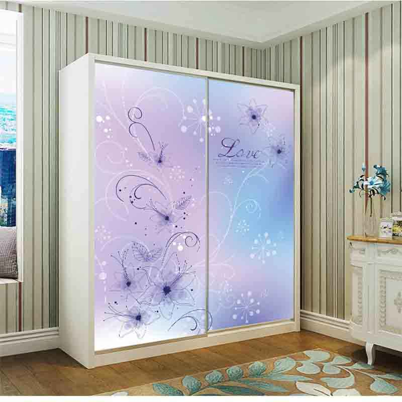 Customized Fashion Flowers Glass Film Impervious