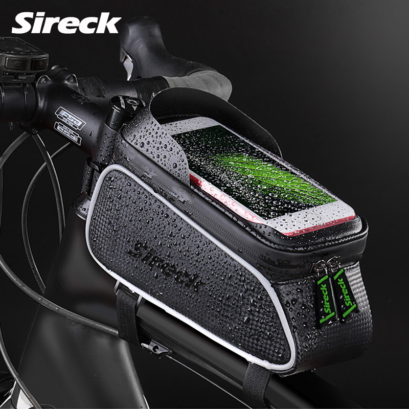 Sireck Bike Bag Nylon Waterproof Bicycle Bag 6.0 Touchscreen Bike Phone Case Cycling Front Tube Bag Bicycle Accessories Ciclismo sireck bicycle bag 6 0 inch phone case touchscreen front frame bycicle bike bag cycling top tube saddle bag pouch accessories