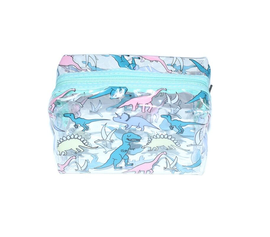 Unicorns Dinosaur PVC Cosmetic case Girl Travel Make up Transparent jelly  Organizer Case Bentoy Waterproof Bag Cute Wash Handbag-in Cosmetic Bags    Cases ... c914167e3a91