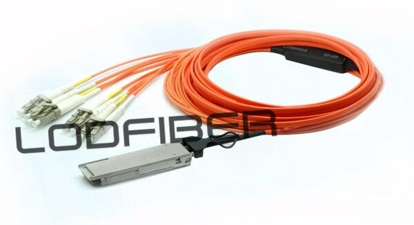 20m (66ft) CBL-QSFP-8LC-AOC20M Compatible 40G QSFP+ to 4 Duplex LC Breakout Active Optical Cable20m (66ft) CBL-QSFP-8LC-AOC20M Compatible 40G QSFP+ to 4 Duplex LC Breakout Active Optical Cable
