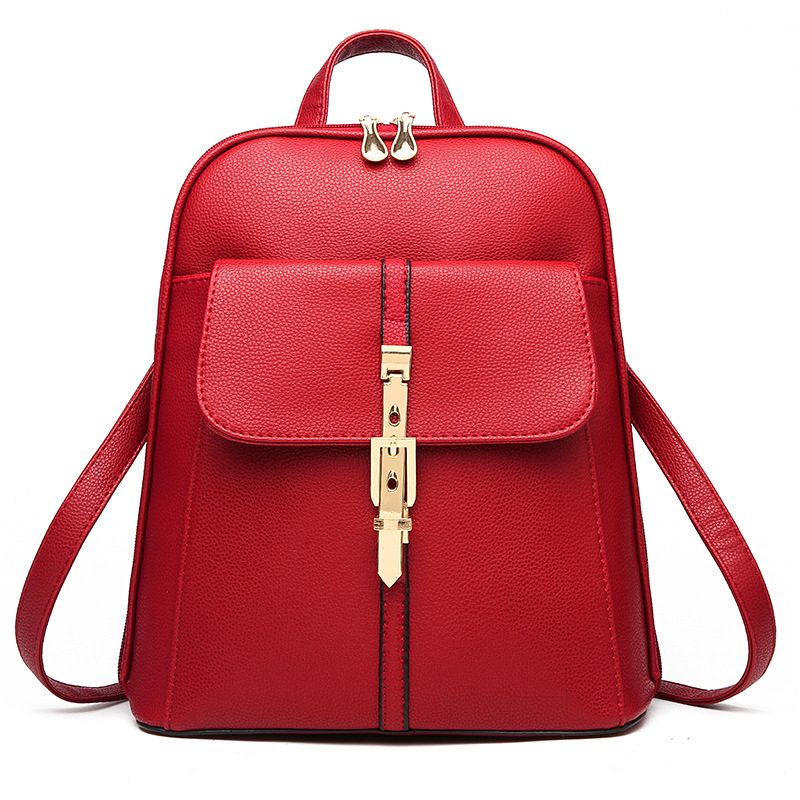 Fashion-Women-Backpacks-PU-Leather-Solid-Color-Backpack-School-Bags-College-Simple-Design-Casual-Daypacks-For