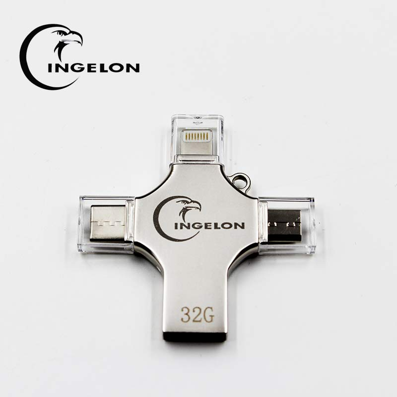 4in1 flash drive 32GB pendrive multi function flash memory stick 16gb 64gb otg type c micro