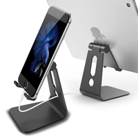 Nulaxy Aluminum Adjustable Mobile Phone Holder Stand For IPhone 7 6 6S Plus 5 5S 5C