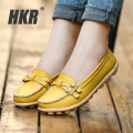 HKR women flats shoes genuine leather ballet flats mother nurse shoes Slip-on round toe ballerina flats loafers for women 1188