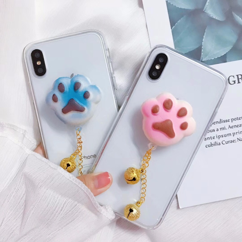 dogs leg cell phone case for iphone 8 TPU soft squishy for phone case for iphone 8plus cute funny transparent cover case for ip