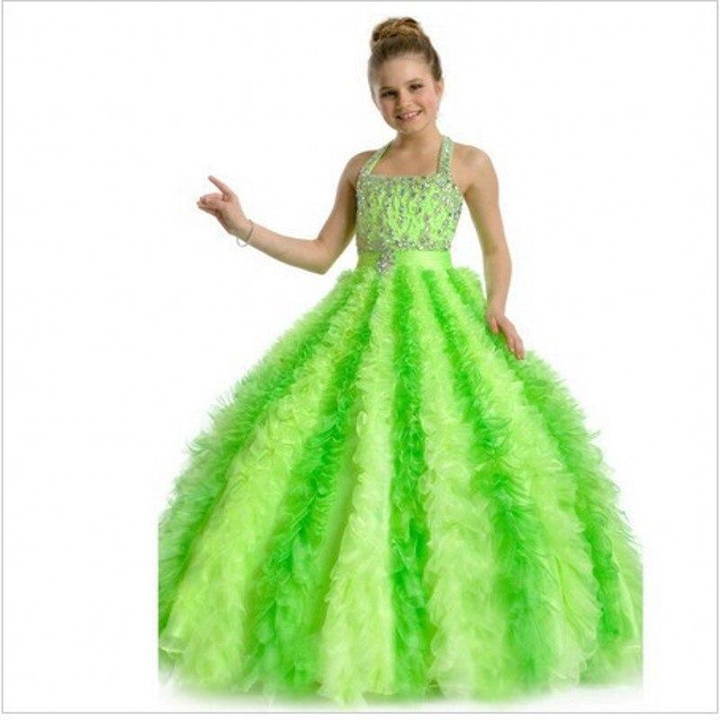 Bright Colored Flower Girl Dresses 2016 Custom Made Cheap