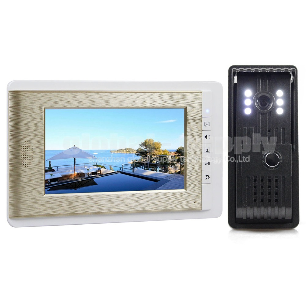 DIYSECUR Aluminum Alloy Camera High Quality 7 inch TFT Color LCD Display Video Door Phone Visual Intercom Doorbell Hands
