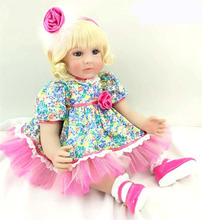 Boneca Bebê D910 60 cm 24 polegada DOLLMAI Boneca Bebe Reborn Lifelike Silicone Renascer Bonecas Menina Boneca Da Moda menina Recém-nascidos bebês Reborn