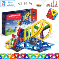 54pcs Vehicle Transform Set Creative Plane Helicopter Tank Magnetic Model Building Blocks Designer Enlighten Brain Traning