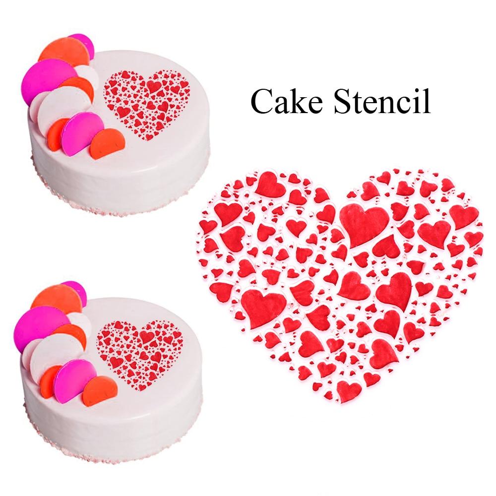 3pcs Valentine/'s Heart I Love You Text Stencils Crafts Decoration Card Paint Cup