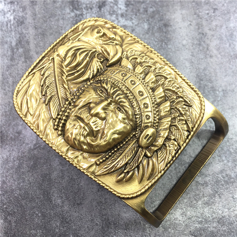 3D Chief Carved Belt Buckle For Men Jeans Belt Ceinture Homme DIY Accessories Male Belt Buckle BK0581