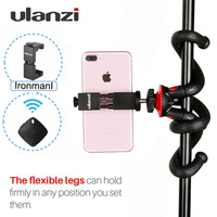 Ulanzi Mini Flexible Tripod W Metal Phone Clip Holder Rotated Ballhead Bluetooth Remote For IPhone Smartphone