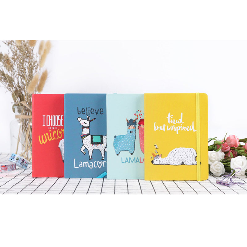 A6 A7 Notebook Alpaca Hardcover Ruled Kawaii Bullet Journal Diary Planner Office School Supplies Funny Hardcover Sketchbook