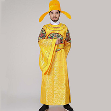 TV Play Emperor costume hanfu male ancient royal gown embroidered dragon robe carnival fancy cosplay apparel