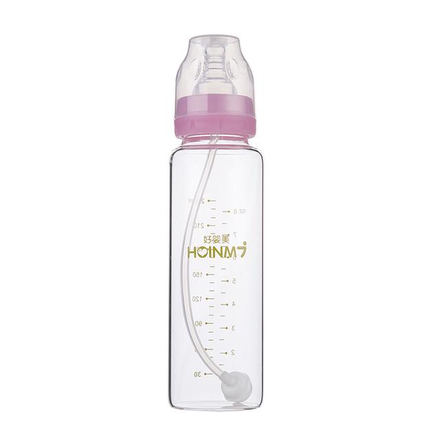 240 ml Frasco de Alimentação Do Bebê Garrafa PP com Alça Mamadeira Calibre Padrão Mamilo Automático com Garrafa de Leite Materno