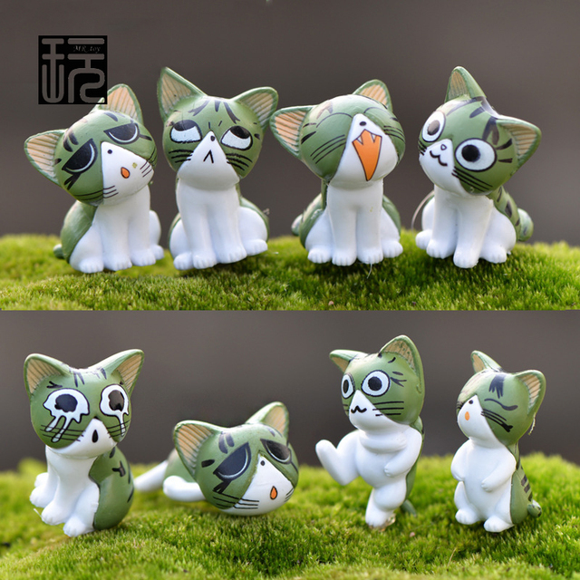 3pcs Lot New Version Playing Sweet Cats Fairy Garden Miniature