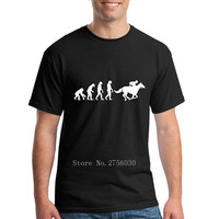 Men S Vintage T Shirt Horse Riding Evolution Cool Retro Short Sleeve Cotton Custom Tee Men