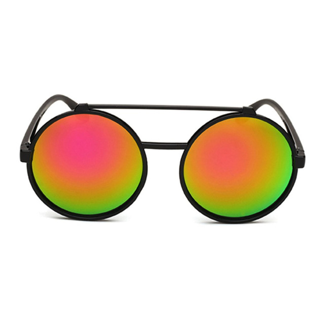 41b9e0ccb73 Fashion Flip Up Steampunk Sunglasses Men Women Round Vintage Mens Sunglass  Brand Designer Fashion Glasses UV400 Resin Lens Hot