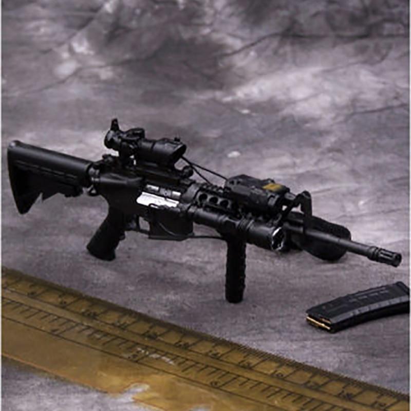 Hobbies modelo de ação & figuras brinquedo muito quente eua m4a1 carabina rifle arma modelo conjunto 1/6 escala militar f12inch soldado figura