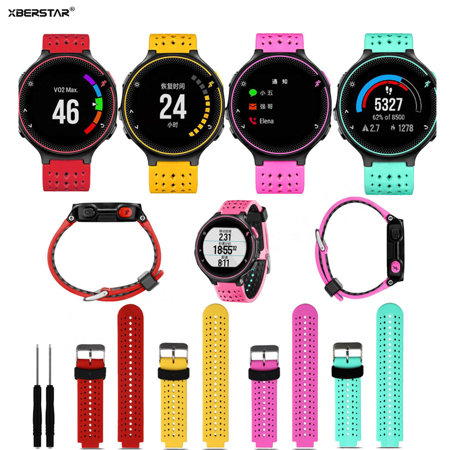 Replacement Silicone Strap Watchbands for Garmin Forerunner 235 630 230 font b GPS b font Watch