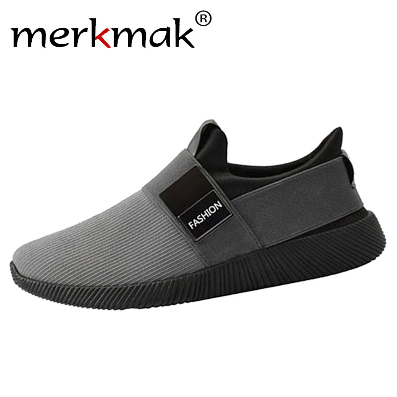 2019 Casual Shoes Men Sneakers Breathable Fashion Shoes Male Slip On Walking Shoes Black Sneakers Boy Shoes Solid Men Footwear