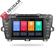 Isudar Car Multimedia player 2 din Auto DVD android 7.1.1 8 Inch For Toyota Prius 2009-2013 Left Driving Quad Core Radio FM GPS
