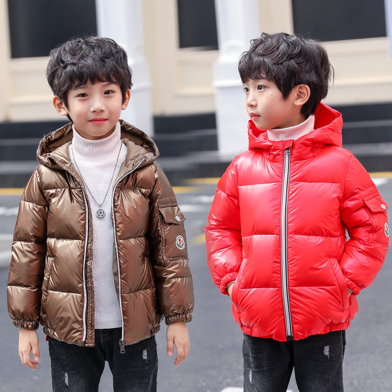 Boy Snow Wear Boys Down Jackets Coats Winter Warm Baby Boy's Coats Thick Duck Down Kids Jacket Children's Outerwears Cold Winter free shipping 2017 new polyester winter jackets and coats thick warm fashion casual handsome young men parka fit snow cold