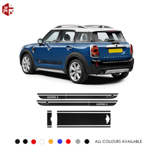 Car Hood Trunk Engine Rear Side Stripes Skirt Sticker Body Decal Kit For MINI Countryman F60 JCW ALL4 CooperS Style 2017-Present