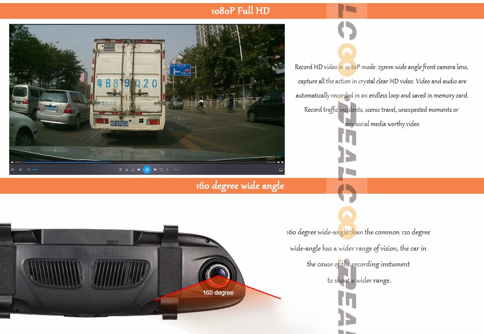3G-car-DVR-mirror-camera-dual-lens_04-1080P 160 degree angle