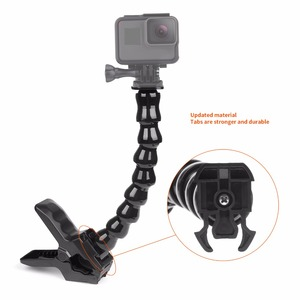 Image 4 - SHOOT 24cm Gooseneck Adjustment Jaws Flexible Clamp Mount for GoPro Hero 9 8 7 5 Session SJCAM SJ Xiaomi Yi 4K 4K+ Camera Tripod
