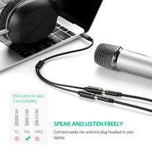 3.5mm Audio Mic Splitter Cable Earphone Headphone Adapter 1 Male To 2 Female for Computer PC 3.5mm Female to Dual 3.5mm Male(China)