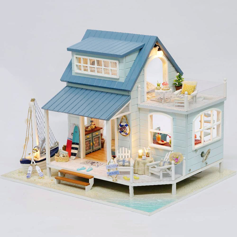 Miniature Diy Doll House Wooden Miniature Handmade Dollhouses Furniture Kit Handmade Toys For Children Girl Gifs