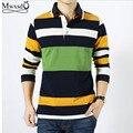2016 new spring men casual polo shirt long sleeve mens stripe cotton shirt men slim fit polo shirt homme camisas polo