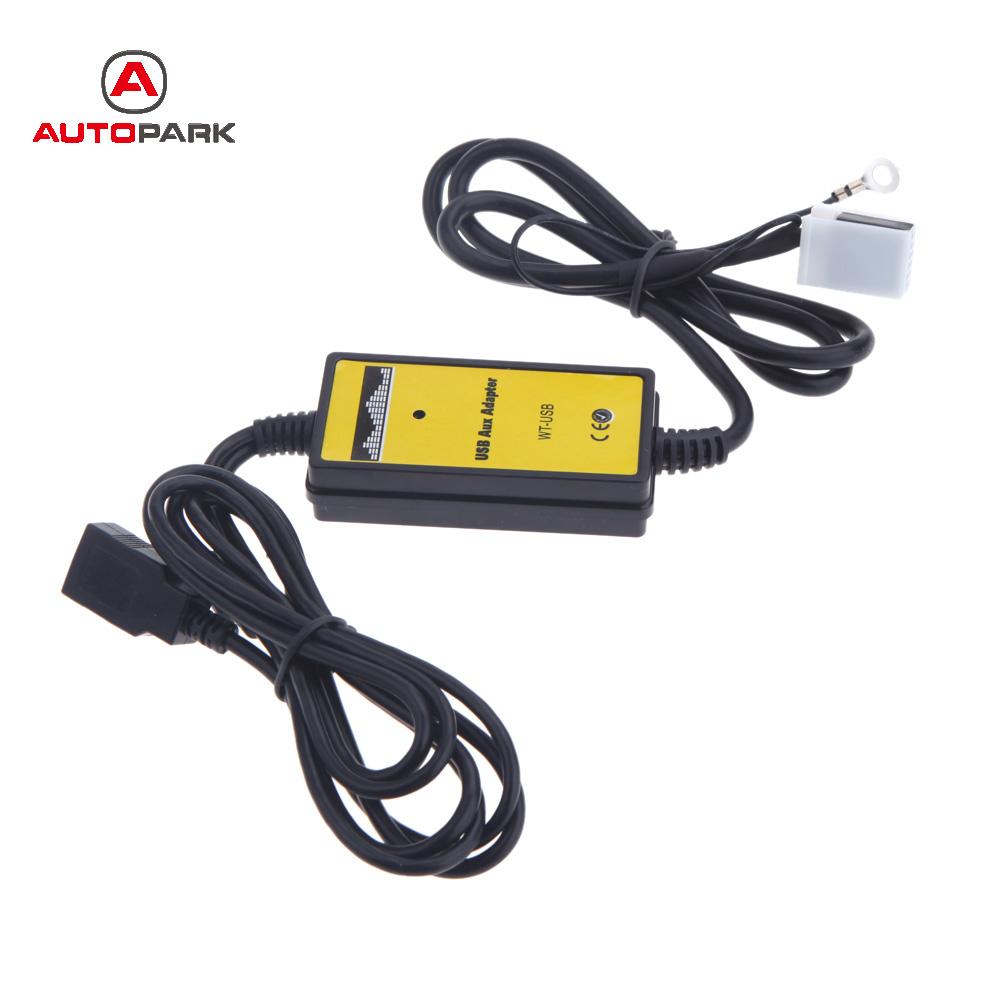 Prix pour Auto Voiture USB Aux-In Câble Adaptateur Lecteur MP3 Radio Interface pour VW pour Audi pour Skoda Siège 12Pin Voiture Radio Lecteur DVD connecteur