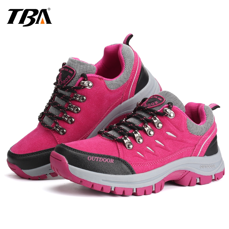 TBA Winter Sneakers Women's Hiking Shoes Waterproof Trekking Boots Women Breathable Leather Women's Sneakers Outdoor Sport Shoes