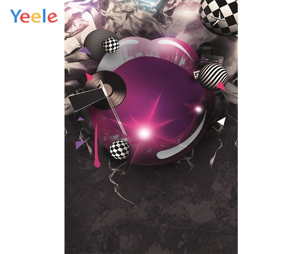 Yeele Professional Camera Photography Backdrops Record Sing Song Disco Party Birthday Photographic Backgrounds For Photo Studio in Background from Consumer Electronics