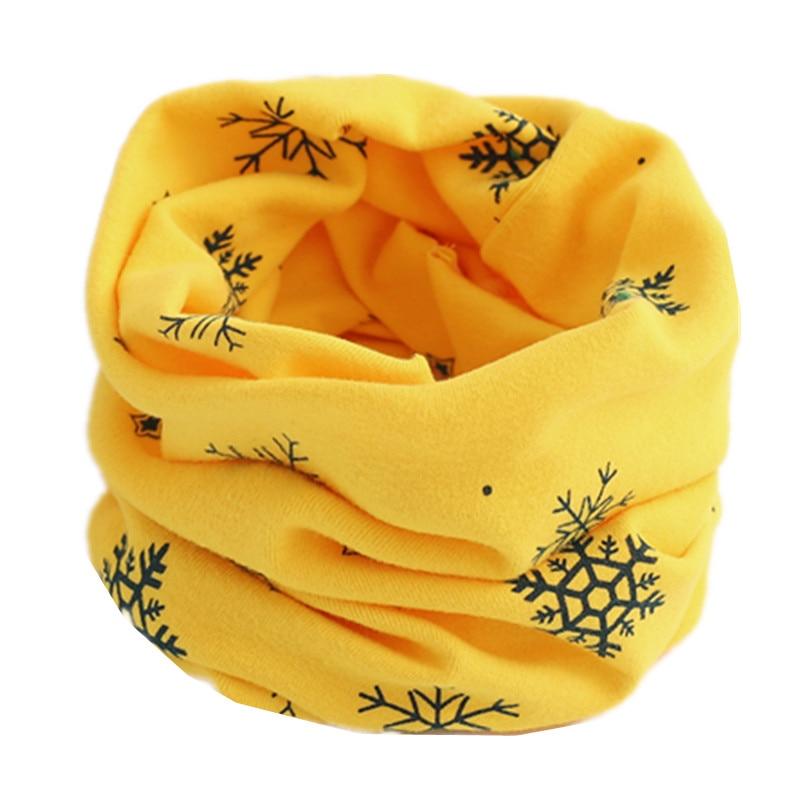 Осенне-зимний детский хлопковый шарф для девочек и мальчиков теплые шарфы Детский круглый кольцевой ошейник Детский шарф детский волшебный шейный платок - Цвет: yellow snow