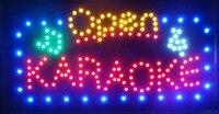 Новое поступление бегущий светодиодный неоновый свет знак светодиодный караоке магазин открытые вывески 15,5X27,5 дюймов