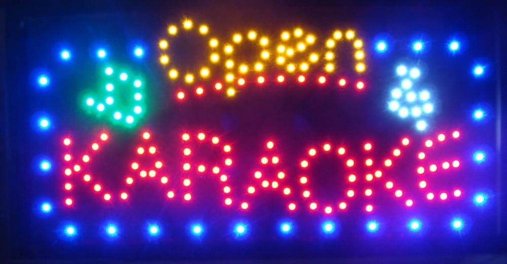New Arrival Running Led Neon Light Sign Led Karaoke Shop